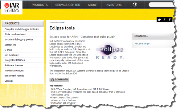 IAR Eclipse Tools