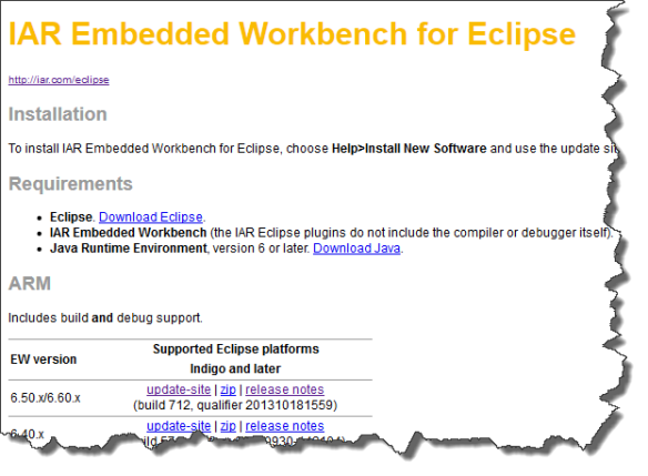 IAR Embedded Workbench for Eclipse