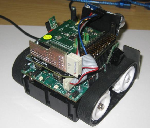 IEEE802.15.4 Card mounted on Zumo Robot