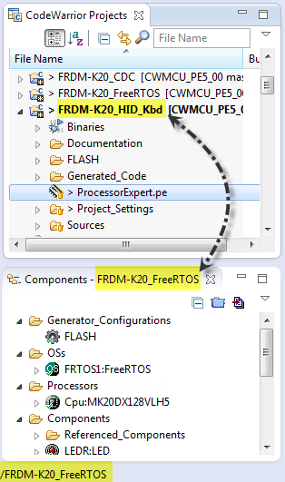 Project and Components View not in Sync
