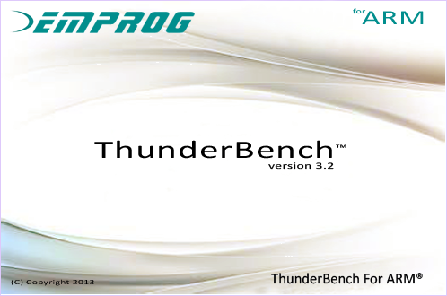 ThunderBench for ARM Eclipse Startup Screen