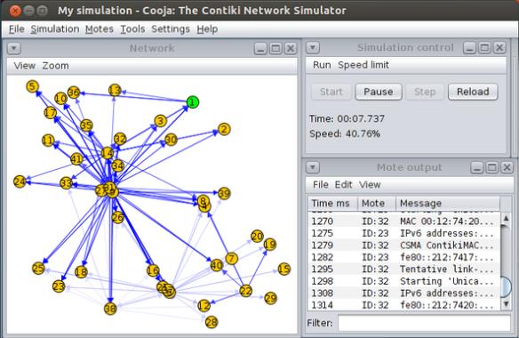 Contiki Network Simulator (Source: Wikipedia)