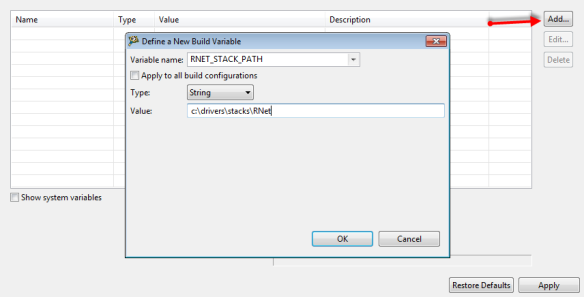 Define a new build variable