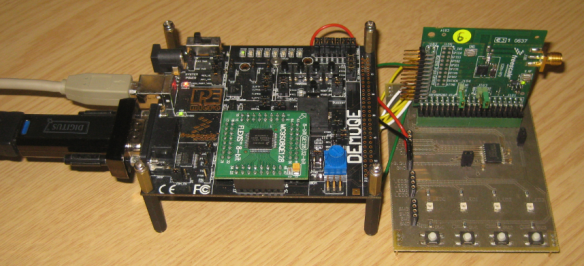 DEMOQE with MC9S08QE128 and MC13201 Transceiver Card