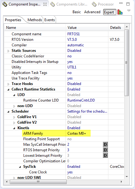 FreeRTOS Setting for ARM Cortex M0+