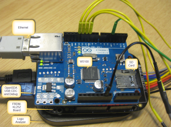 Arduino Ethernet Shield with FRDM-KL25Z