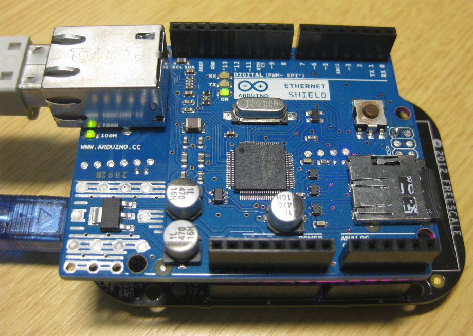 Frdm with arduino ethernet shield r part ping mcu