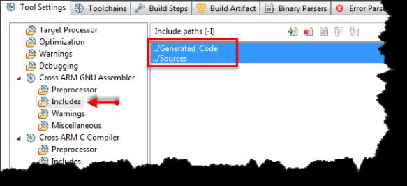 Assembler Include Directories
