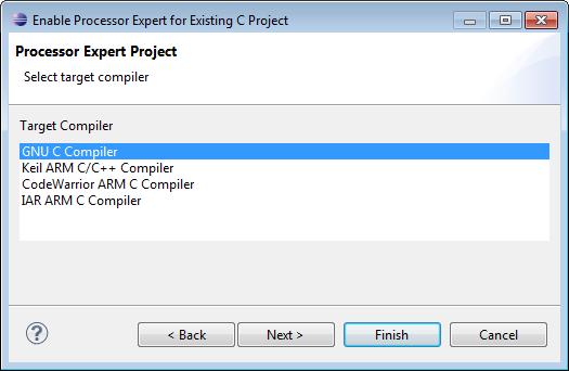 Select Target Compiler