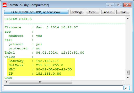 Status Network Configuration