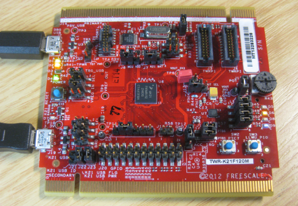 TWR-K21F120M Board Front Side