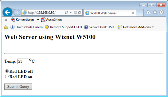 Web Server with W5100 on FRDM-KL25Z