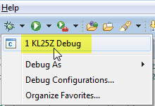 Debug Launch from List