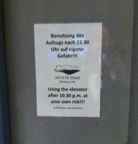 Elevator Door Sign