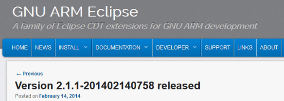 GNU ARM Eclipse 2.1.1