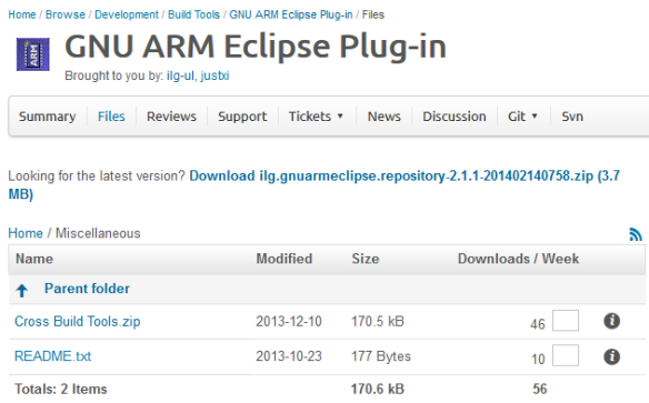 GNU ARM Eclipse Cross Build Tools