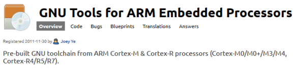 GNU Tools for ARM Embedded Processors
