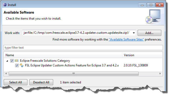Installing PEx updater