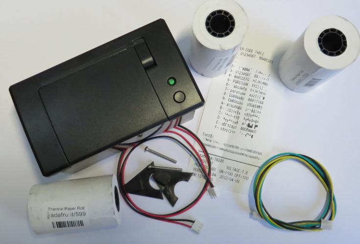 Tutorial thermal printer part hardware setup with