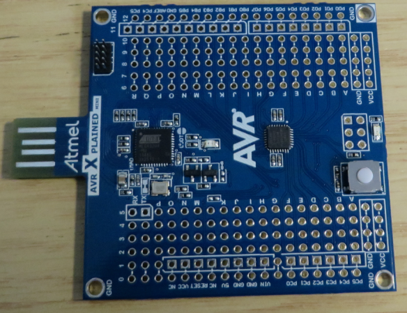 AVR Xplained Mini Board Top Side