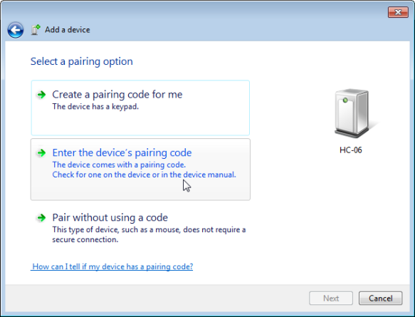 Enter Device Pairing Code