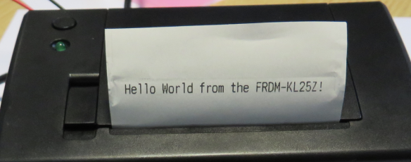 First Hello World Message on Printer