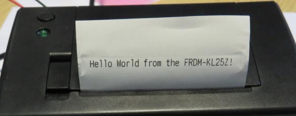 First Hello World Message on Printer