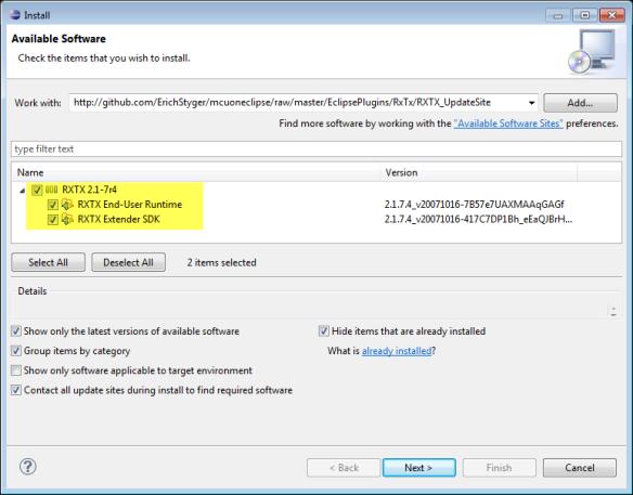 Installing RXTX Plugins