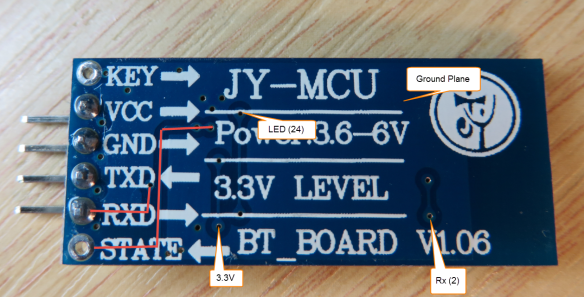 JY-MCU BT_BOARD V1.06 Bottom Side Details
