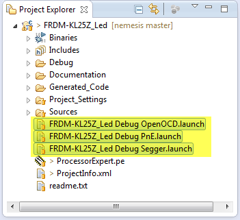 Launch Configuration Files in Project