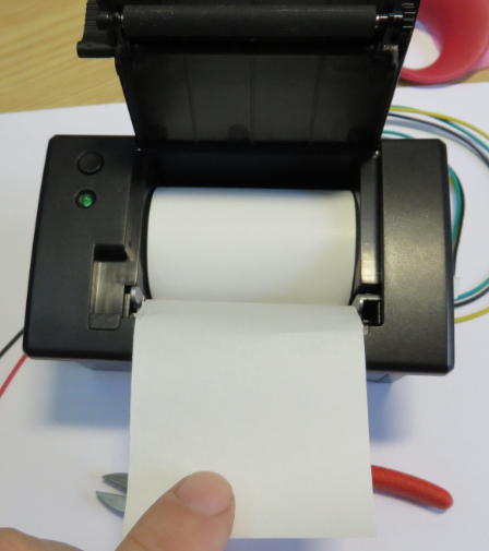 Paper inside the printer