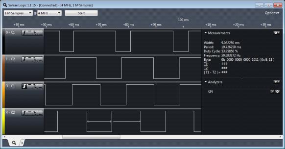 Quadrature Signals in Logic Analyzer