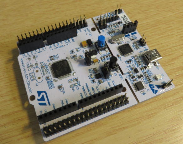 stm32nucleo Board Top Side