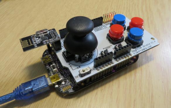 ElecFreaks.com Joystick Board with FRDM-KL25Z and nRF24L01+