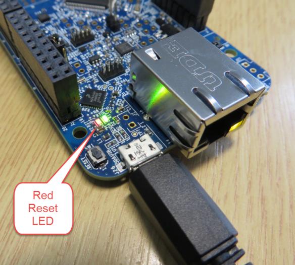 FRDM-K64F Red Reset LED always on