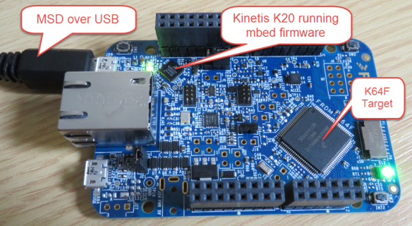 FRDM-K64F with mbed MSD bootloader