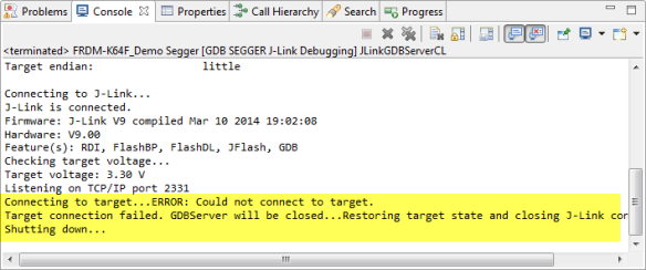 Segger J-Link gives up