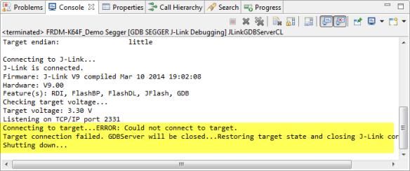 Segger J-Link gives up