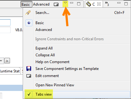 Tabs View Option
