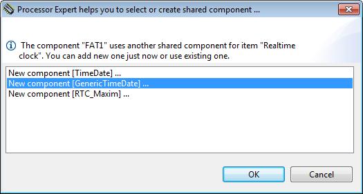 Adding GenericTimeDate Component