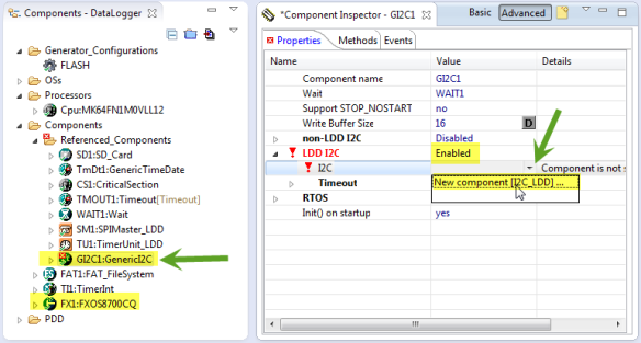 Adding I2C_LDD with FXOS8700CQ