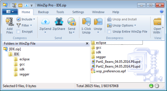 Eclipse IDE with configuration files