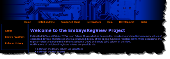 EmbSysRegView Project Page