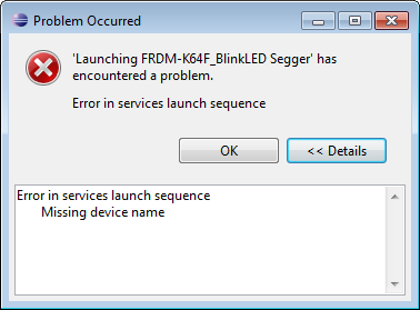 Error in Services Launch Sequence