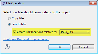 File Operation to use Link to Files