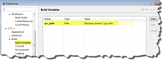 gcc_path Build Variable
