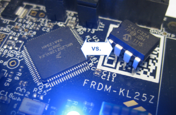 Internal FLASH vs. external EEPROM