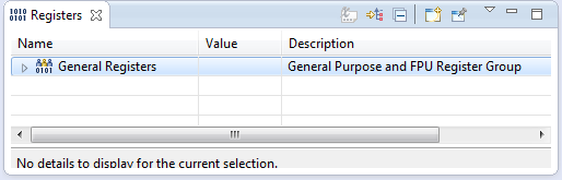 Standard Registers View in Eclipse