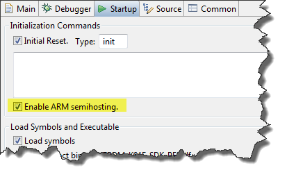 ARM Semihosting Option in OpenOCD