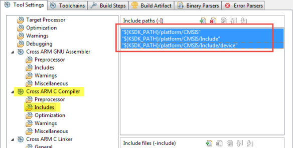 CMSIS Header Include Path